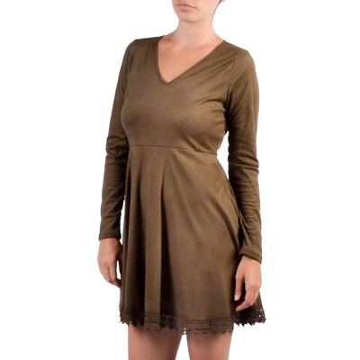 Jela SUEDE DRESS WITH LACE