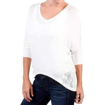Bozzolo DOLMON SLEEVE WITH LACE INSERT