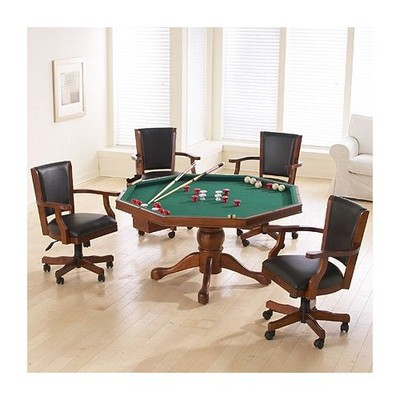 Poker Table with 4 executive chairs