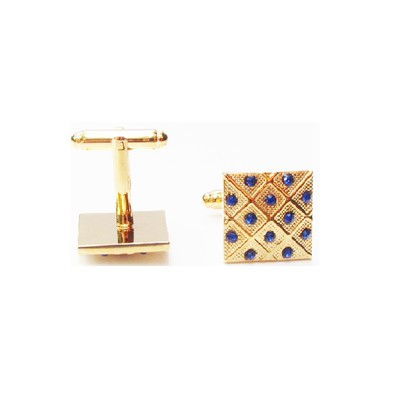 Fancy Gold and Blue Cufflinks