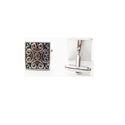 Fancy Black and Silver Cufflinks