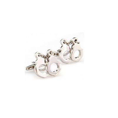Stainless Steel Novelty Hand Cuff Cufflinks