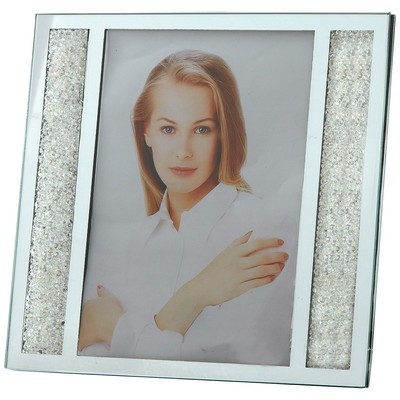 """Starlet Crystal Filled Photo Picture Frame 4""""x 6"""""""