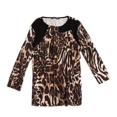 Luxanne Leopard Skin Pascal Brown Ladies Top