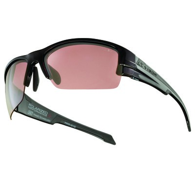 PIPER - Polished Black with Rose Polarized+ Lens