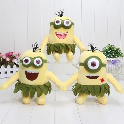 Set of 3 'Despicable Me 2' Hawaii Hula Skirt Minions Plush Toys