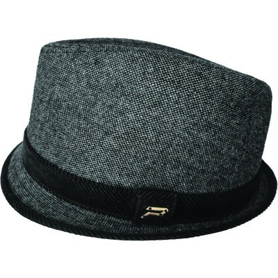 Men's  Fedora Hat - Black/Grey