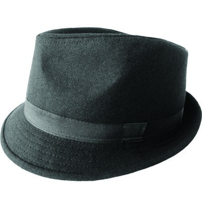 Men's Wool Fedora - Black 59cm