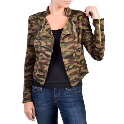 MILEY + MOLLY  CAMO BLAZER WITH SLIT BACK