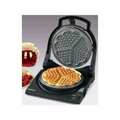 Waffle Maker - 5 Heart - Floating Top