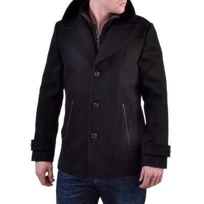 Soia & Kyo     MILTON STRAIGHT FIT WOOL COAT WITH REMOVABLE COLLAR