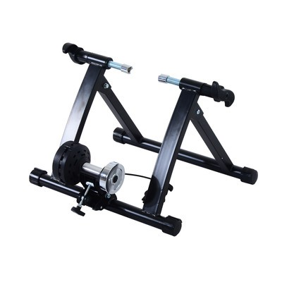 Foldable Magnetic Indoor Bicycle Trainer Stand 5 Level Exercise Black