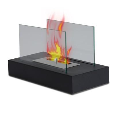 "14"" Portable Table Top Fireplace Firebox Bio Ethanol Burner Heater Black"