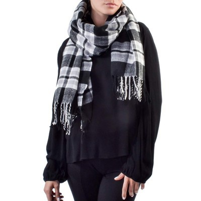 ONLY       ONLALYSSA WEAVED CHECK SCARF