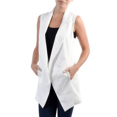 Casting DOUBLE BREASTED SLEEVELESS BLAZER