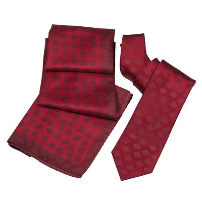 Souvenir Red TIe/ Scarf Set