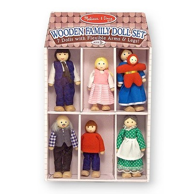 Melissa and Doug Wooden Family Doll Set