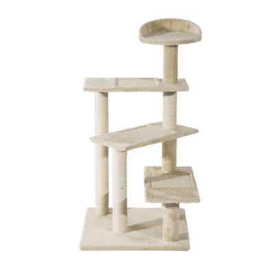 "39"" Scratching Cat Tree Scratcher Tower Post Pets Furniture Beige"