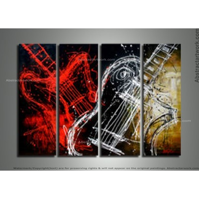 Handpainted - Modern Vilion Art Painting - Single Panel 181 - 48 x 36in