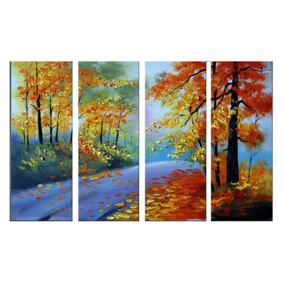 Handpainted - Highly Textured Forest Painting 1090 - 55 x 32in