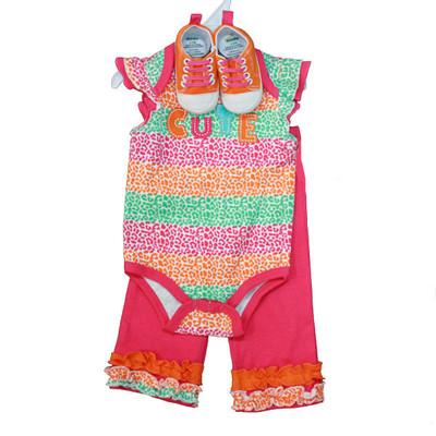 Baby 3 Piece Sneaker Set - Pink