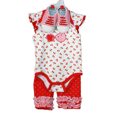Baby 3 Piece Sneaker Set - Red