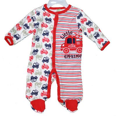 Baby Interlock Cotton Sleeper - Red
