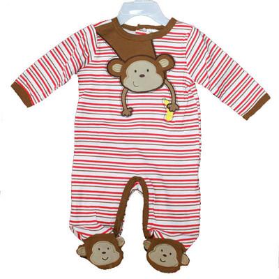 Baby Interlock Cotton Sleeper - Brown
