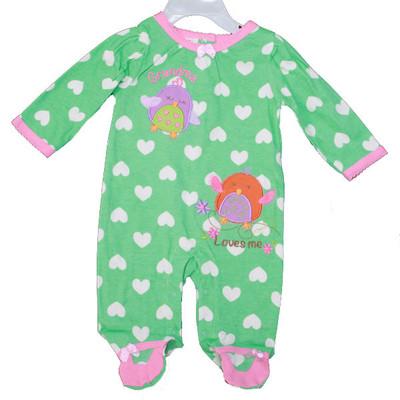 Baby Interlock Cotton Sleeper - Green
