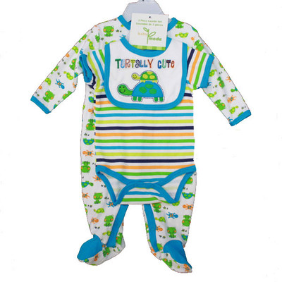 Baby 3 Piece Coverall Set - Blue