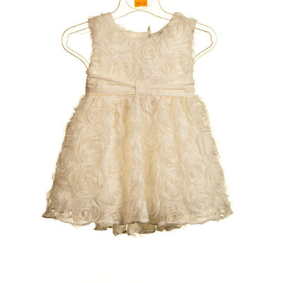Baby Sleeveless Dress with Floral Applique