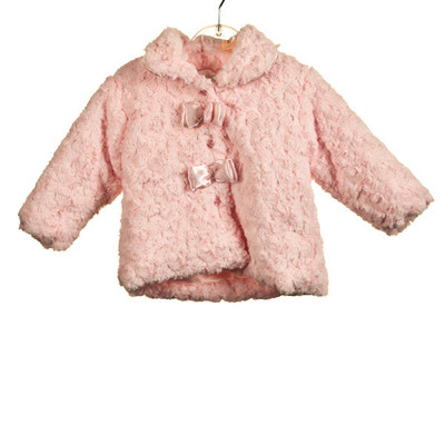 Baby Rosebud Fur Jacket - Pink