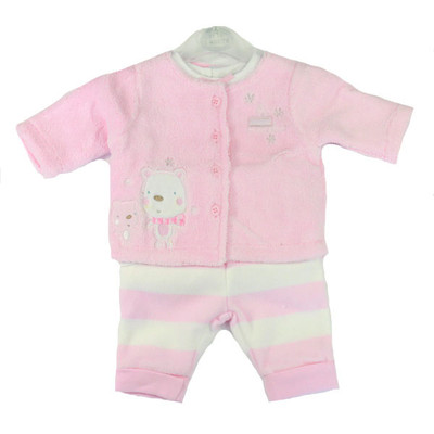 Baby 3 Pc. Plush Fleece Set - Pink