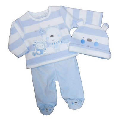 Baby 3 Pc. Microfleece Set - Blue