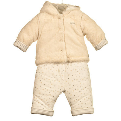 Baby 2 Pc. Super Plush and Padded Set - Ivory