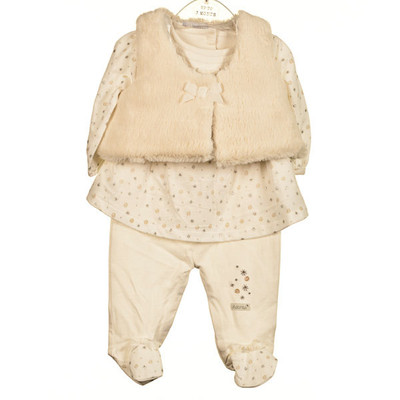 Baby 3 Pc. Plush Set - Ivory
