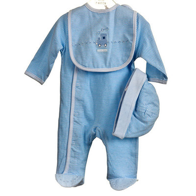 Baby 3 Pc. Cotton Set - Blue