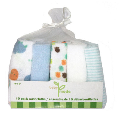 Baby 10 Pack Washcloths