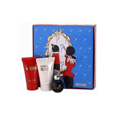 Moschino Cheap & Chic mini gift set: 4.9ml Mini + 25ml Shower Gel + 25ml Body Lotion