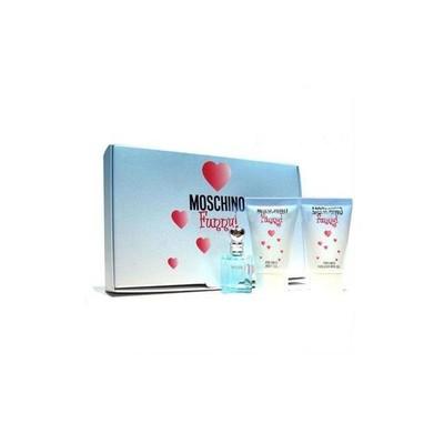 Moschino Funny! mini gift set: 4ml Mini + 25ml Shower Gel + 25ml Body Lotion