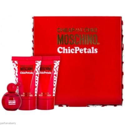 Moschino Cheap & Chic Petals mini gift set: 5ml Mini + 25ml Shower gel + 25ml Body Lotion