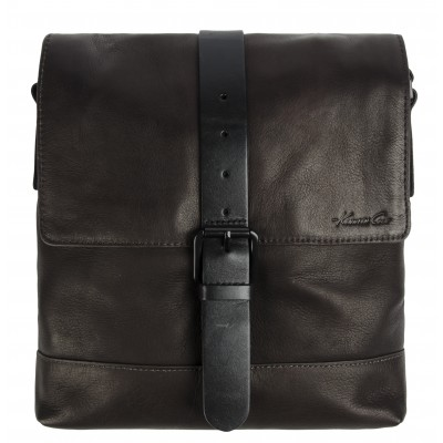 Kenneth Cole New York Single Gusset Flapover Daybag in Brown