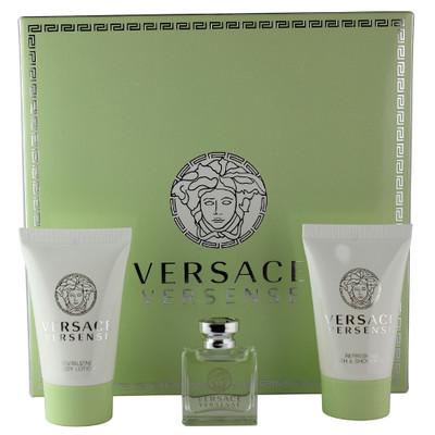 Versace Versense mini gift set: 5ml Mini + 25ml Body Lotion + 25ml Shower Gel
