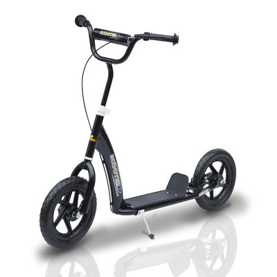 "Adjustable Kids Children Pro Stunt Scooter Ride On With 12"" Tire Black"