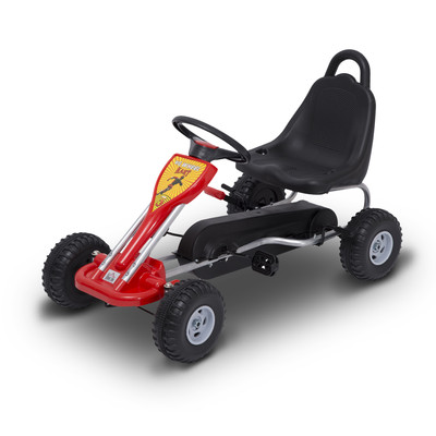 Pedal Go Kart Kids Children Racing Wheel Rider Toy Red Black