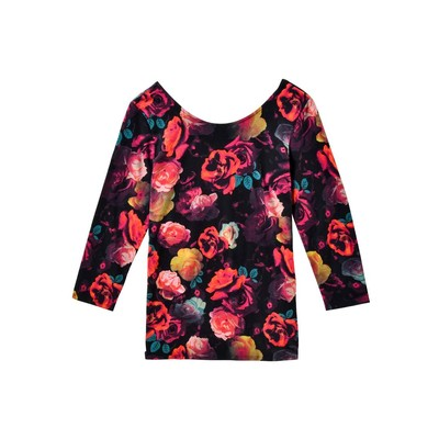 Guess SCOOP BACK FLORAL TOP