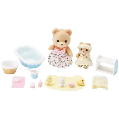 Calico Critters Melissa & Melody Bath Time
