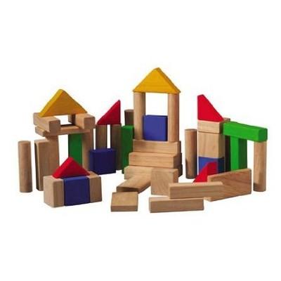 Plan Toys 50 Piece Coloured Blocks