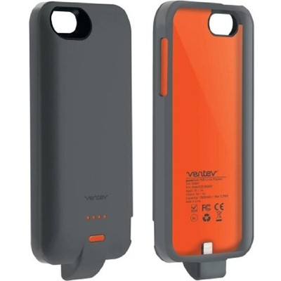 Ventev PowerCase 2000 Power Bank with protective case for iPhone 5/5s - Grey (729198013202)