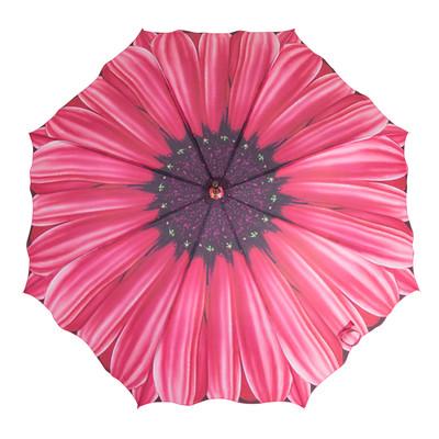 Austin House Fuchia Daisy 8 Panel Stick Umbrella